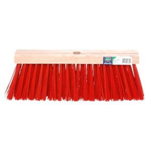 Bezem FSC, kunstvezel rood - 35cm