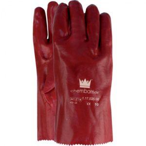 Werkhandschoen PVC rood - 27cm