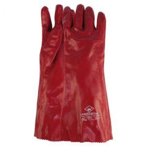 Werkhandschoen PVC rood - 45cm