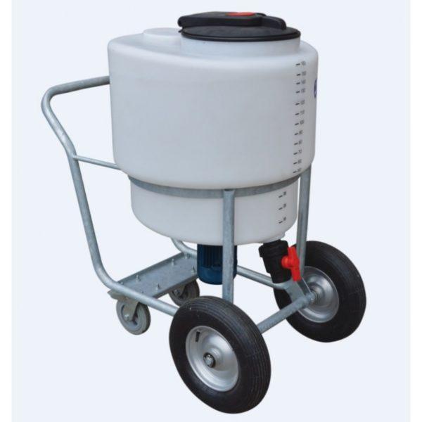 Kalvermelk mixer op wielen 160ltr