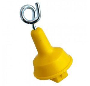 Topisolator voor veerstalenpaal ijzer 50st