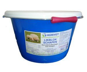 Likblok-emmer schapen Agrivet 20kg