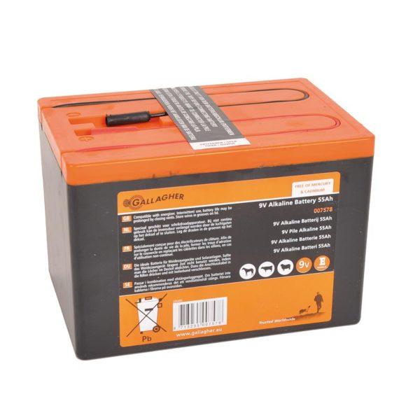 Gallagher Alkalin batterij 9V - 55Ah