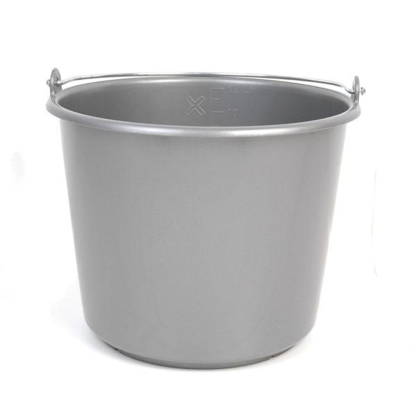 Emmer kunststof grijs 12ltr