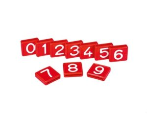 Kokernummer rood
