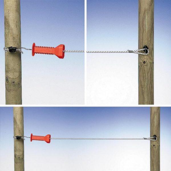 Doorgangsset elastisch koord Wit – 3-6mtr