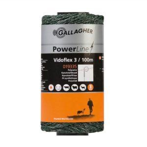 Gallagher Vidoflex 3 PowerLine groen schrikdraad 100mtr