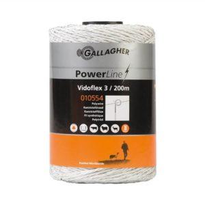 Gallagher Vidoflex 3 PowerLine wit schrikdraad 200mtr