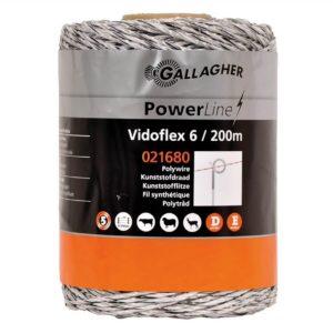 Gallagher Vidoflex 6 PowerLine wit schrikdraad 200mtr