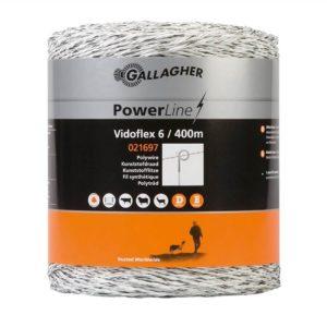 Gallagher Vidoflex 6 PowerLine wit schrikdraad 400mtr