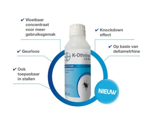 K-Othrine 7,5 SC spuitmiddel tegen insecten | 1ltr