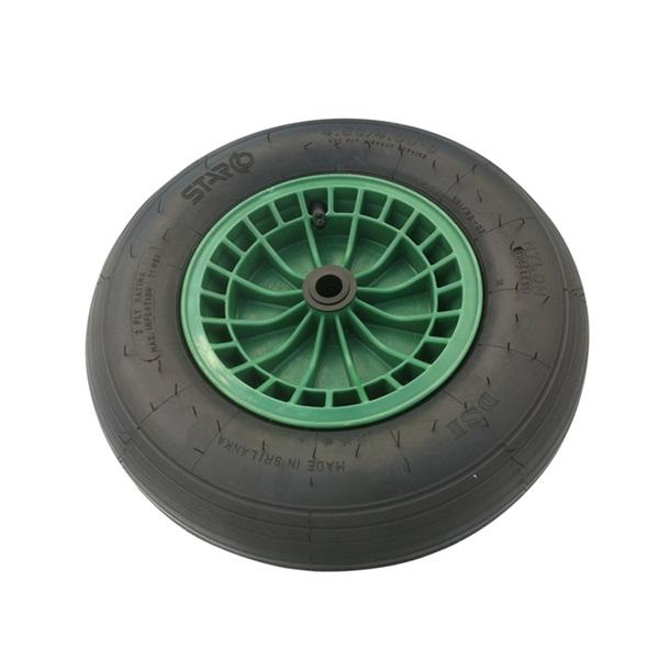 Kruiwagenwiel (kunststof velg) 400x100 - zonder as