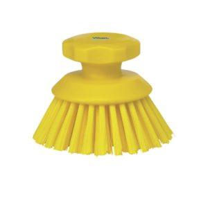 Vikan ronde werkborstel geel