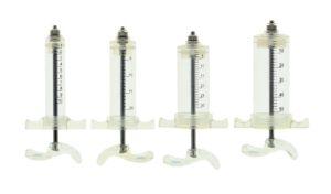 Injectiespuit nylon met schroefaansluiting