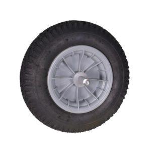 Kruiwagenwiel (kunststof velg) 400x80 - aslengte 20cm