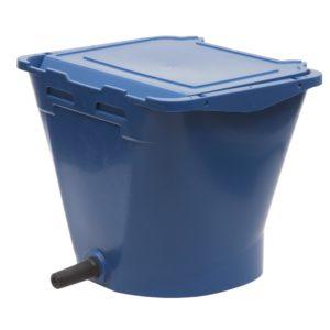 ECF speenemmer blauw met deksel