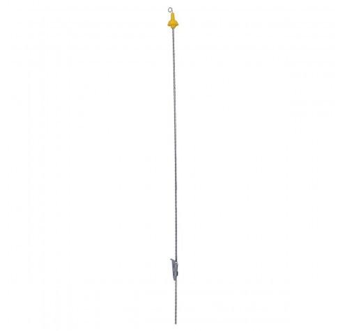 Veerstalenpaal met krulisolator - 105cm